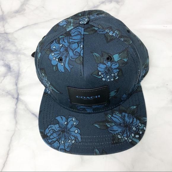 6c8703f35f1 Coach hat men s blue floral print basketball hat
